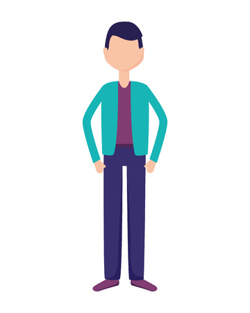 man character male on white background vector illustration