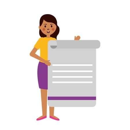 teacher woman with document teachers day vector illustration