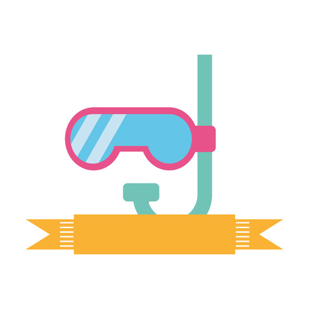 cute snorkel isolated icon vector illustration design