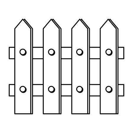Valla de madera, diseño de ilustraciones vectoriales icono aislado