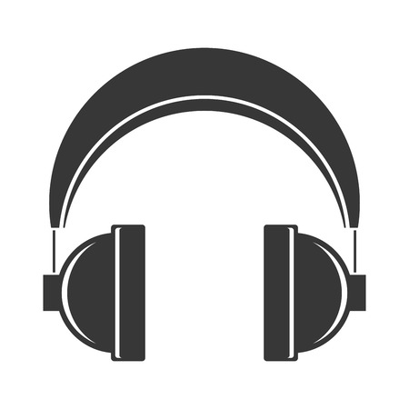 headphones audio device on white background vector illustration