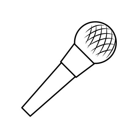 Diseño de ilustración de vector de icono de dispositivo de audio de micrófono Ilustración de vector