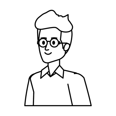 young man avatar character vector illustration design 版權商用圖片 - 122833813