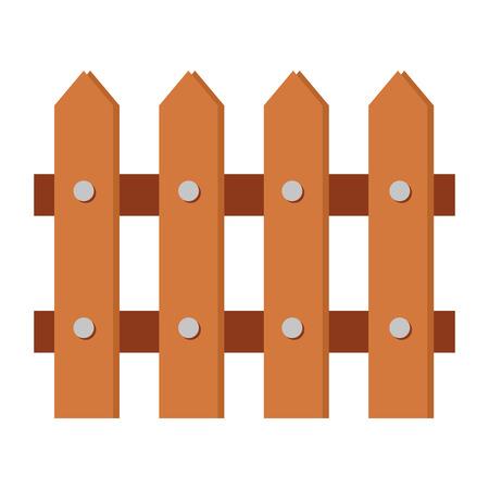 Clôture en bois icône isolé conception d'illustration vectorielle