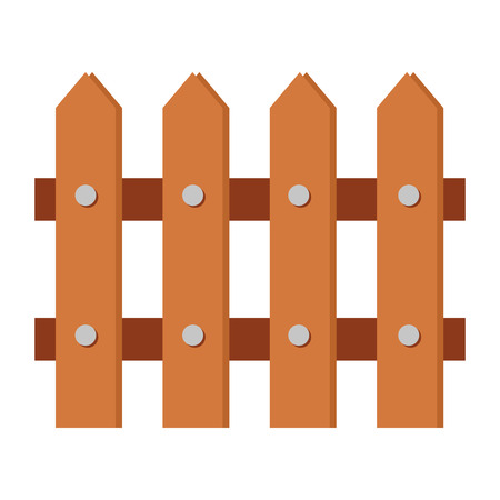 wooden fence isolated icon vector illustration design 写真素材 - 122833834