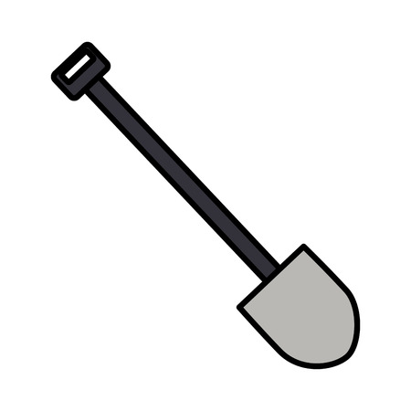 construction shovel tool on white background vector illustration