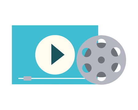 Película set objetos icono diseño ilustración vectorial