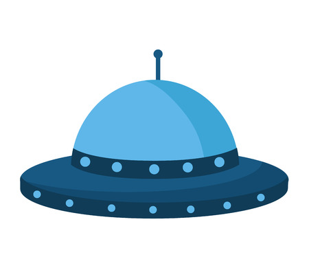 ufo space ship on white background vector illustration Иллюстрация