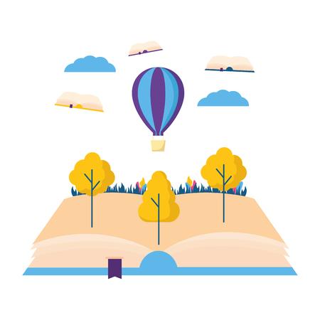 world book day literature adventure vector illustration Illustration