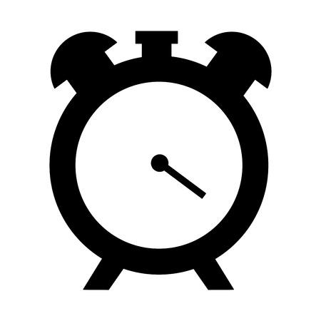 alarm clock time on white background vector illustration