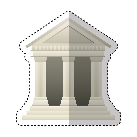 building roman columns icon vector illustration design Stockfoto - 122834154