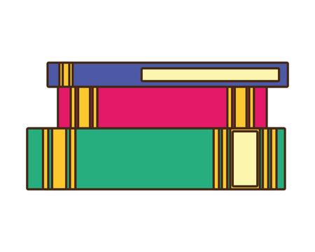 world book day - books stacked learning vector illustration Reklamní fotografie - 122834191