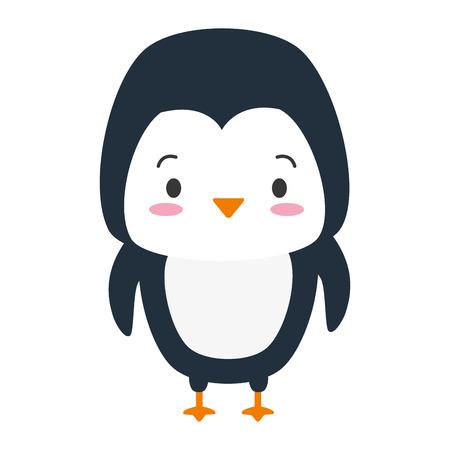 ładny pingwin zwierzęcy kreskówka wektor ilustracja projekt