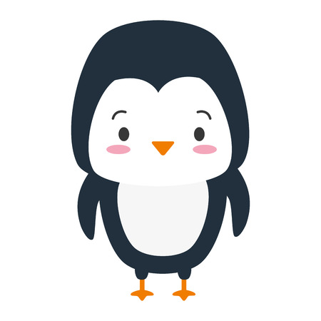 cute penguin animal cartoon vector illustration design 版權商用圖片 - 122834272