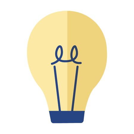 light bulb electricity on white background vector illustration Vektorgrafik