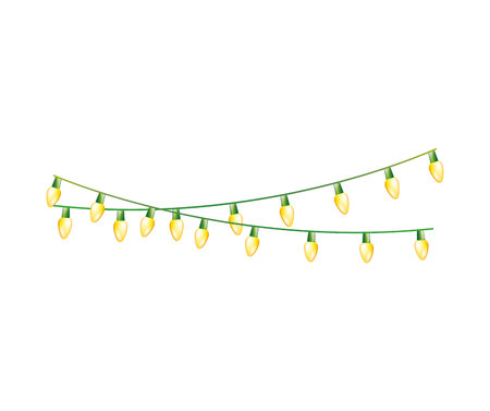christmas lights decoration isolated icon vector illustration design Vettoriali