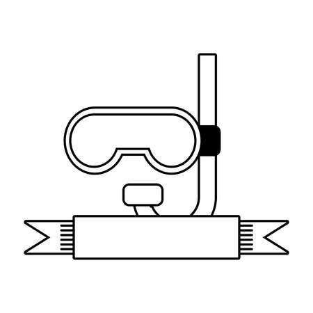 snorkel diving icon on white background vector illustration