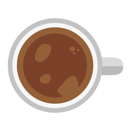 top view coffee cup vector illustration design