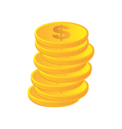 coin money isolated icon vector illustration design Imagens - 122834403