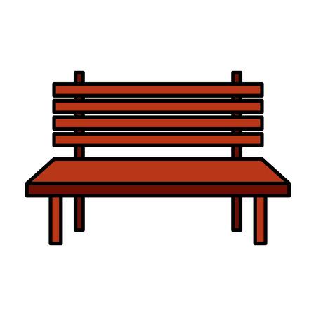 park ławka meble na białym tle projekt ilustracji wektorowych