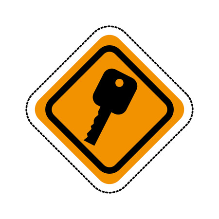 key car isolated icon vector illustration design Standard-Bild - 122834443