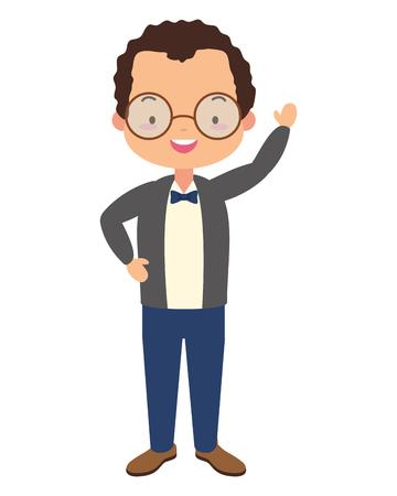 man character cartoon on white background vector illustration design Çizim