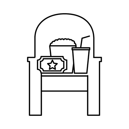 film set objects icon vector illustration design