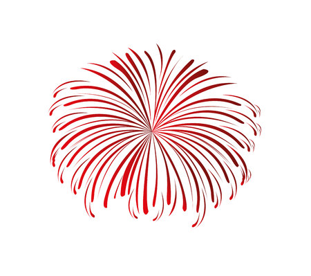 splash fireworks isolated icon vector illustration design  イラスト・ベクター素材