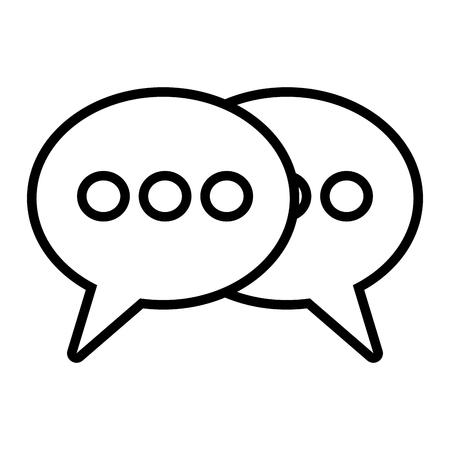 Les bulles parlent sur fond blanc vector illustration
