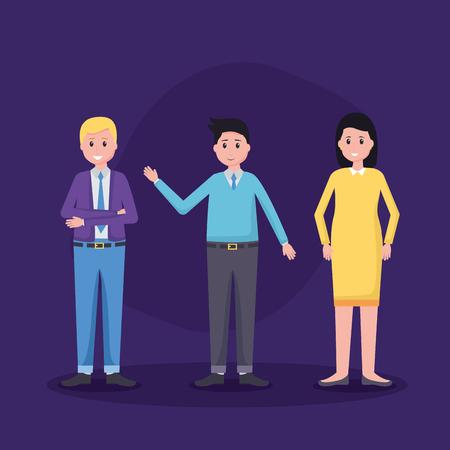 team people employee office vector illustration design Çizim