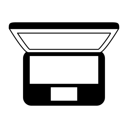 laptop computer top view on white background vector illustration