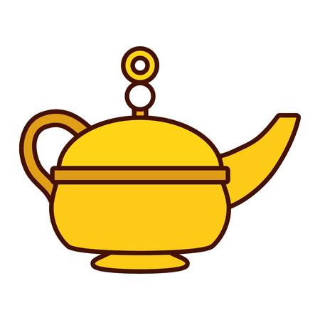 indian tea pot traditional vector illustration design