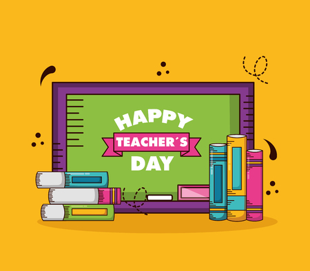 board books school teachers day vector illustration design Stock Illustratie