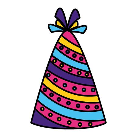 party hat decoration on white background vector illustration Stock Illustratie