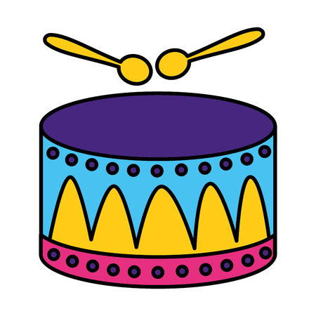 drum with sticks music vector illustration design Çizim