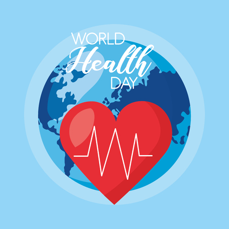 heartbeat medical world health day vector illustration