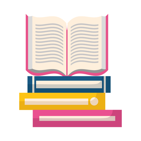 open book isolated icon vector illustration design  イラスト・ベクター素材