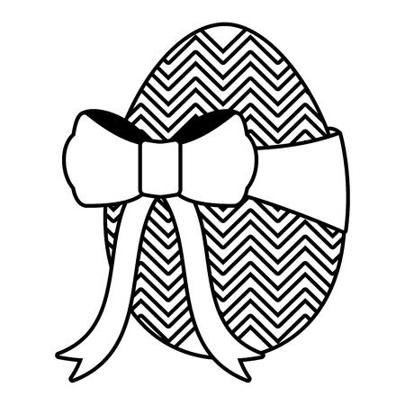 wrapped easter egg decorative ribbon vector illustration Illustration