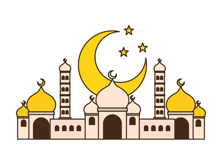 taj mahal half moon islamic vector illustration design vector illustration Çizim