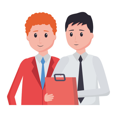 men employee character office vector illustration design Stockfoto - 122837227