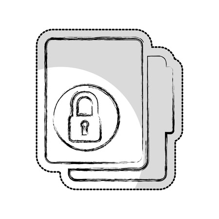 folder with padlock isolated icon vector illustration design
