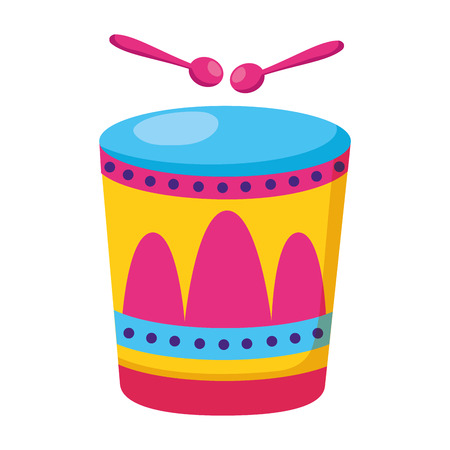 drum with sticks music vector illustration design Ilustracja