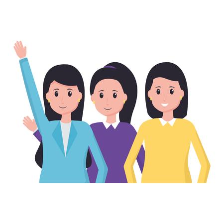 Equipo de personas, diseño de ilustraciones vectoriales de oficina de empleados Ilustración de vector