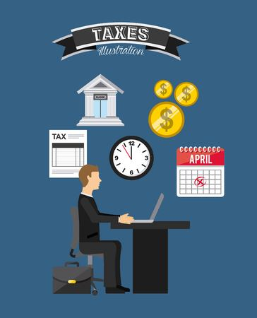 tax concept design, vector illustration eps10 graphic