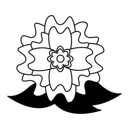 flower leaves nature on white background vector illustration design  イラスト・ベクター素材