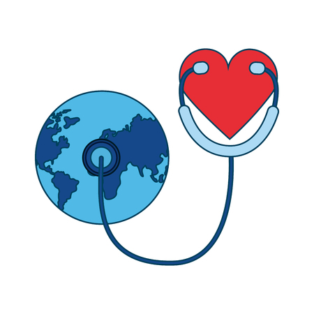 heart stethoscope world health day vector illustration Stock Vector - 122808180