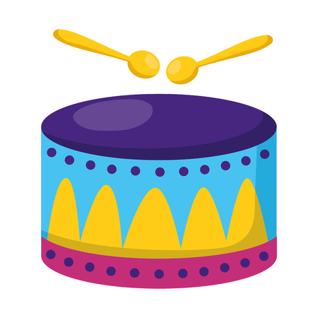 drum with sticks music vector illustration design  イラスト・ベクター素材