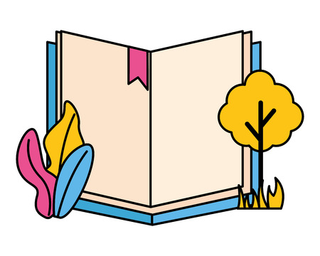 open book tree plant on white background vector illustration 版權商用圖片 - 122808293