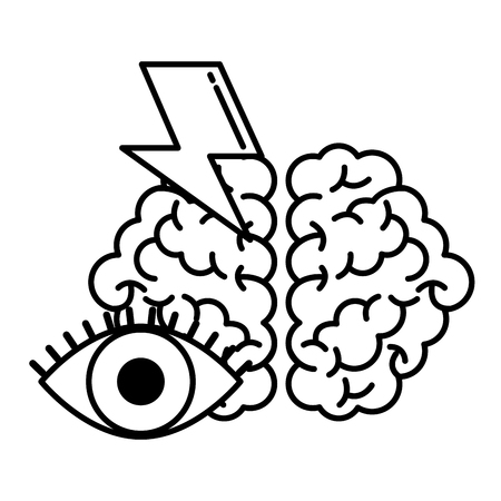 brain vision power creativity idea vector illustration Ilustração