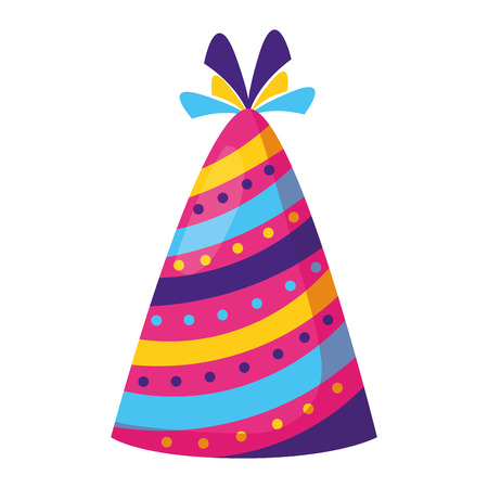 party hat decoration on white background vector illustration Banco de Imagens - 122808529